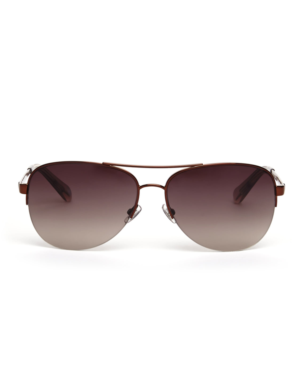 Aviator sunglasses for women -  Women Groupon Fossil Brown 3019 S Aviator Sunglasses In Brown Lyst