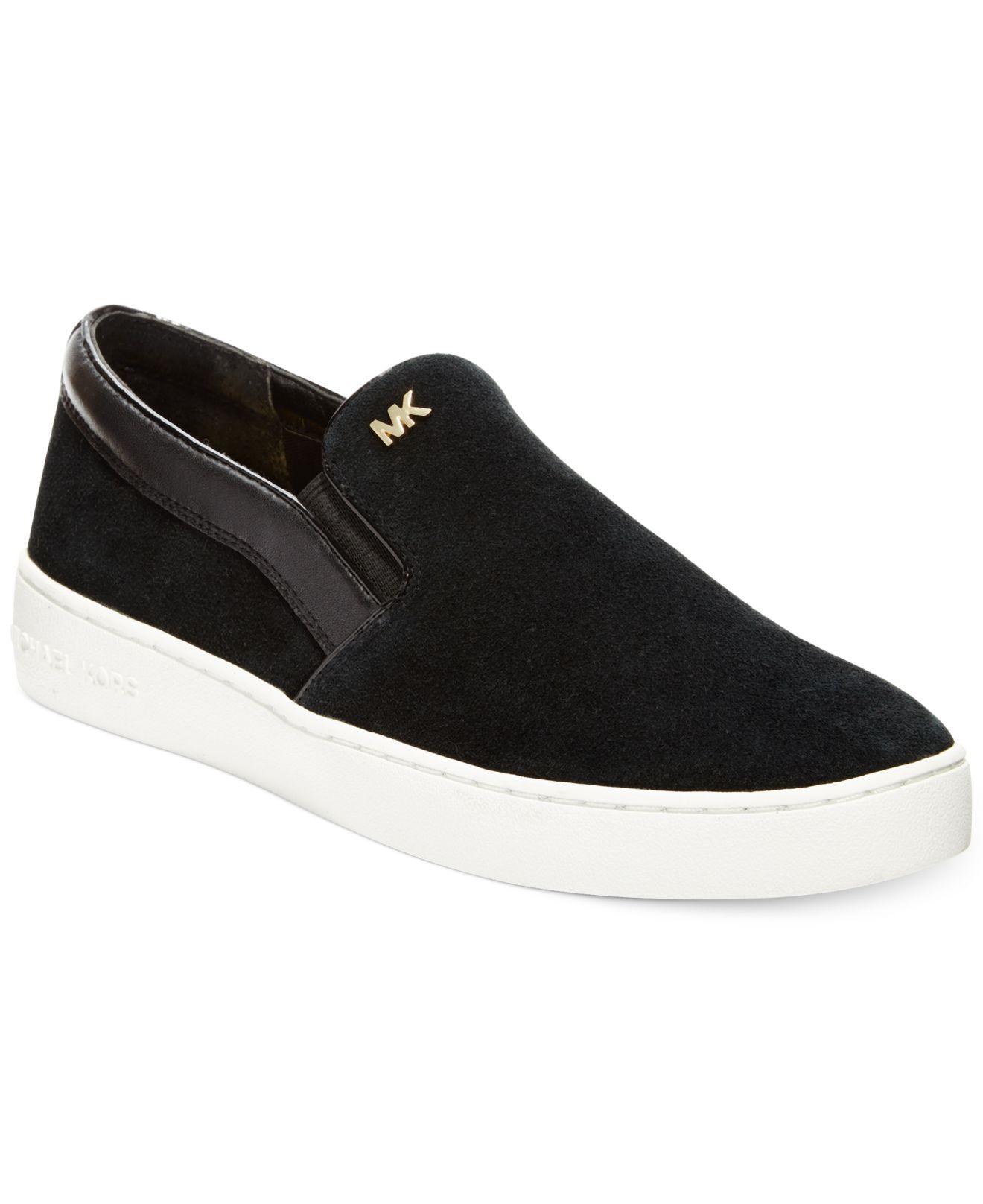 Michael Kors Michael Keaton Slip On Sneakers In Black Lyst