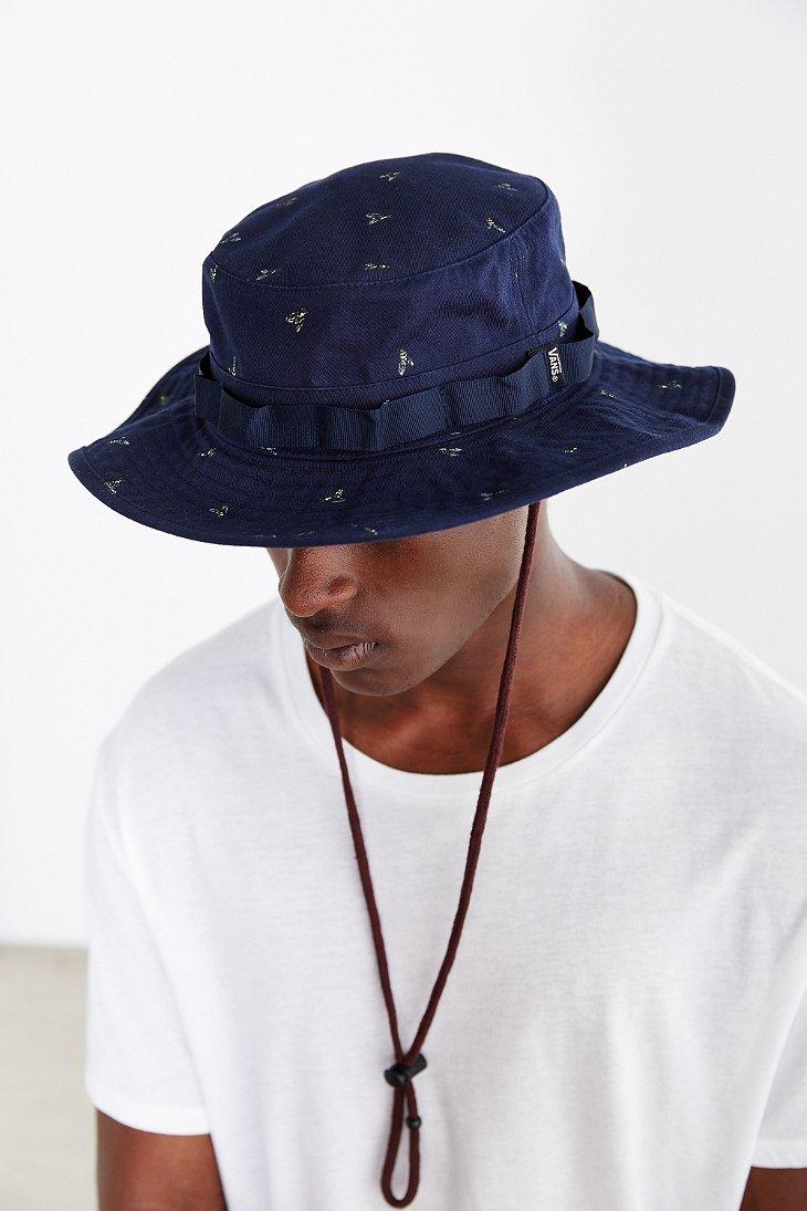 793770bd Vans Boonie Hat in Blue for Men - Lyst