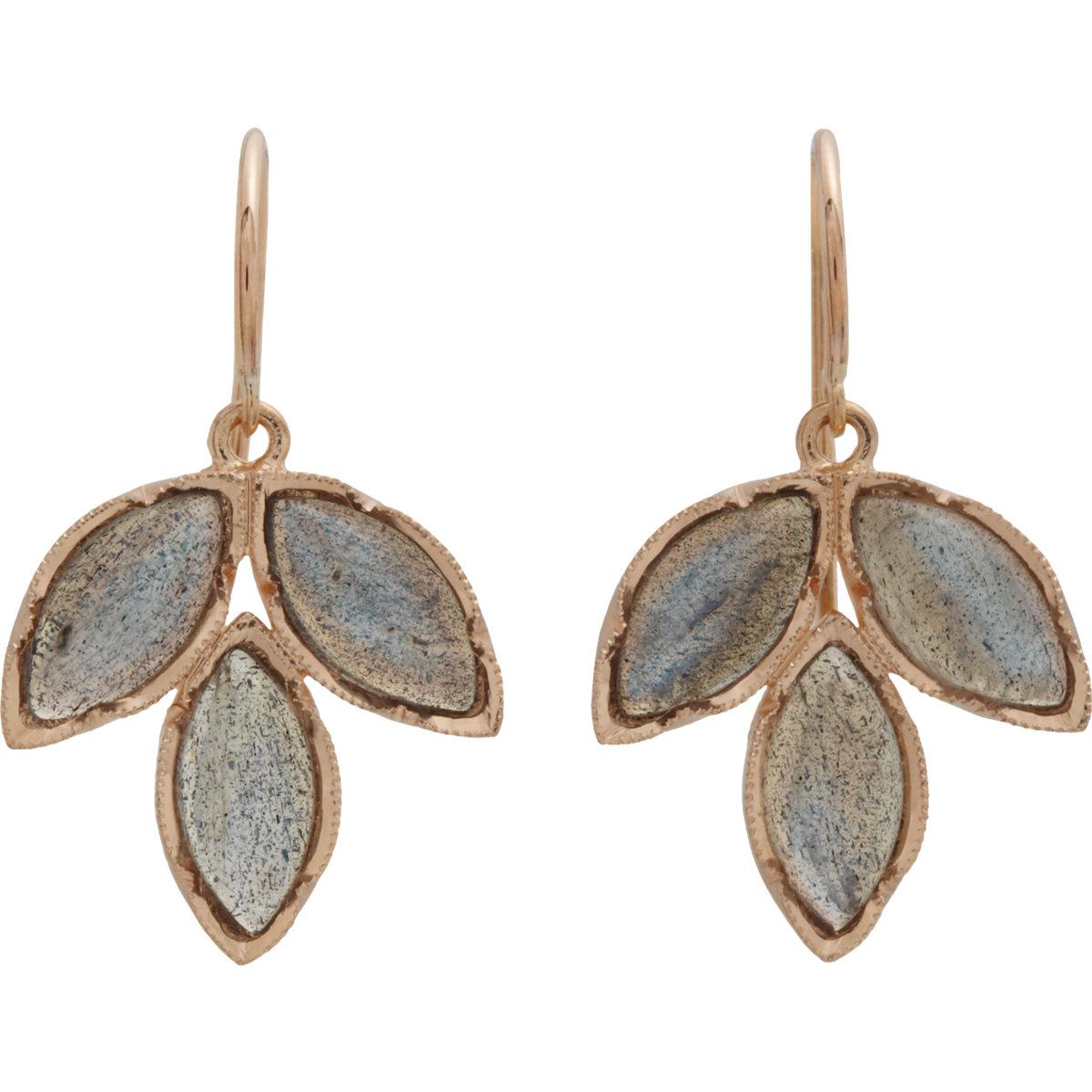318e38feca650 Irene Neuwirth - Metallic Gemstone Triple Marquise Earrings - Lyst