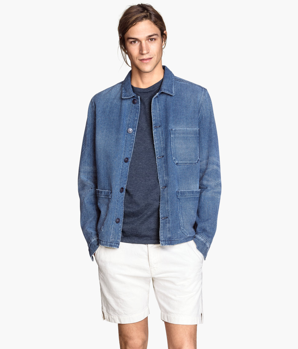 H&ampm Shirt Jacket In Twill in Blue for Men | Lyst