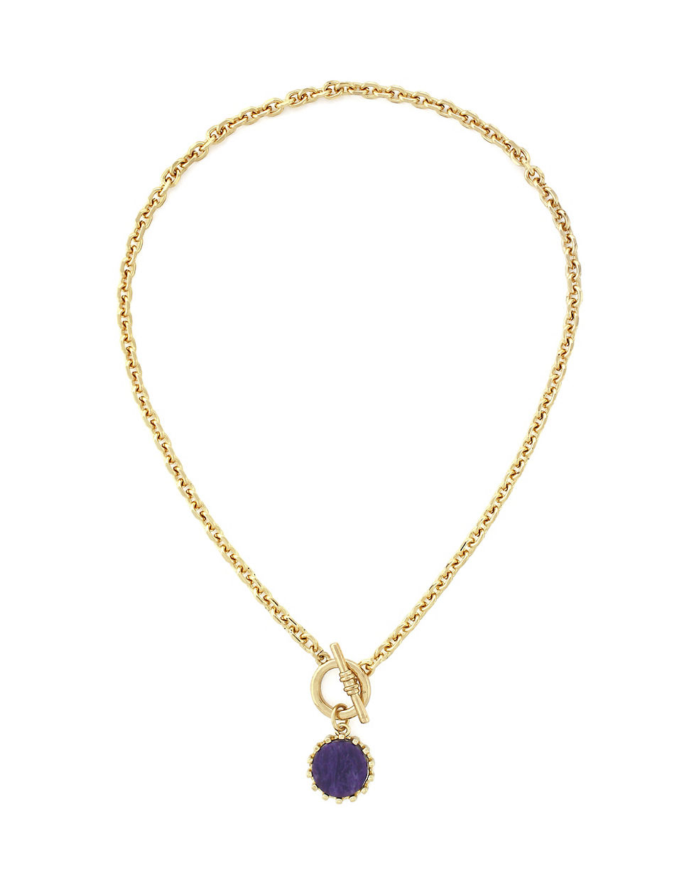 BCBGeneration Double Chain Stone Necklace d1Wb7VZDOO
