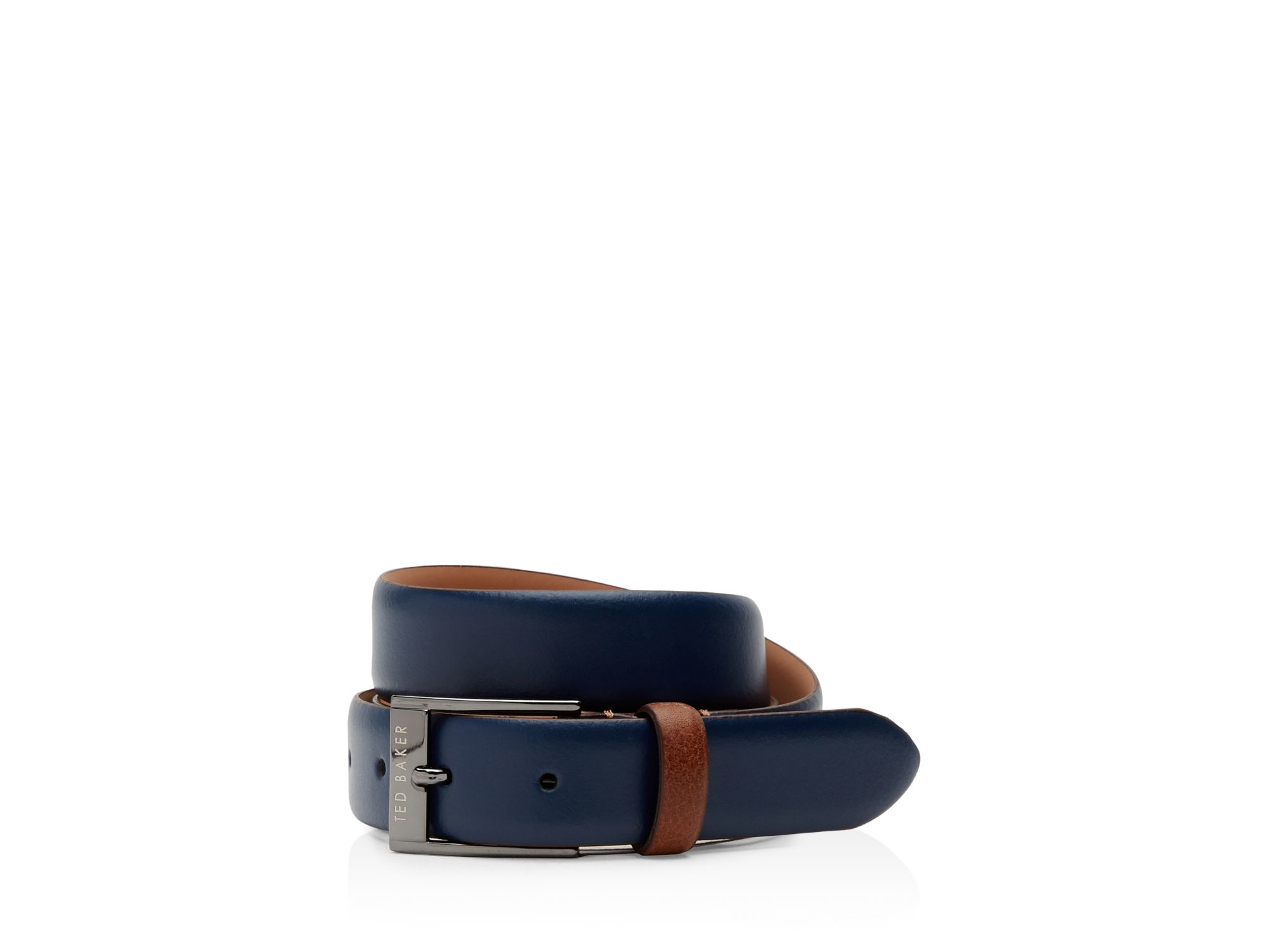 ted baker newbry colored leather belt in for