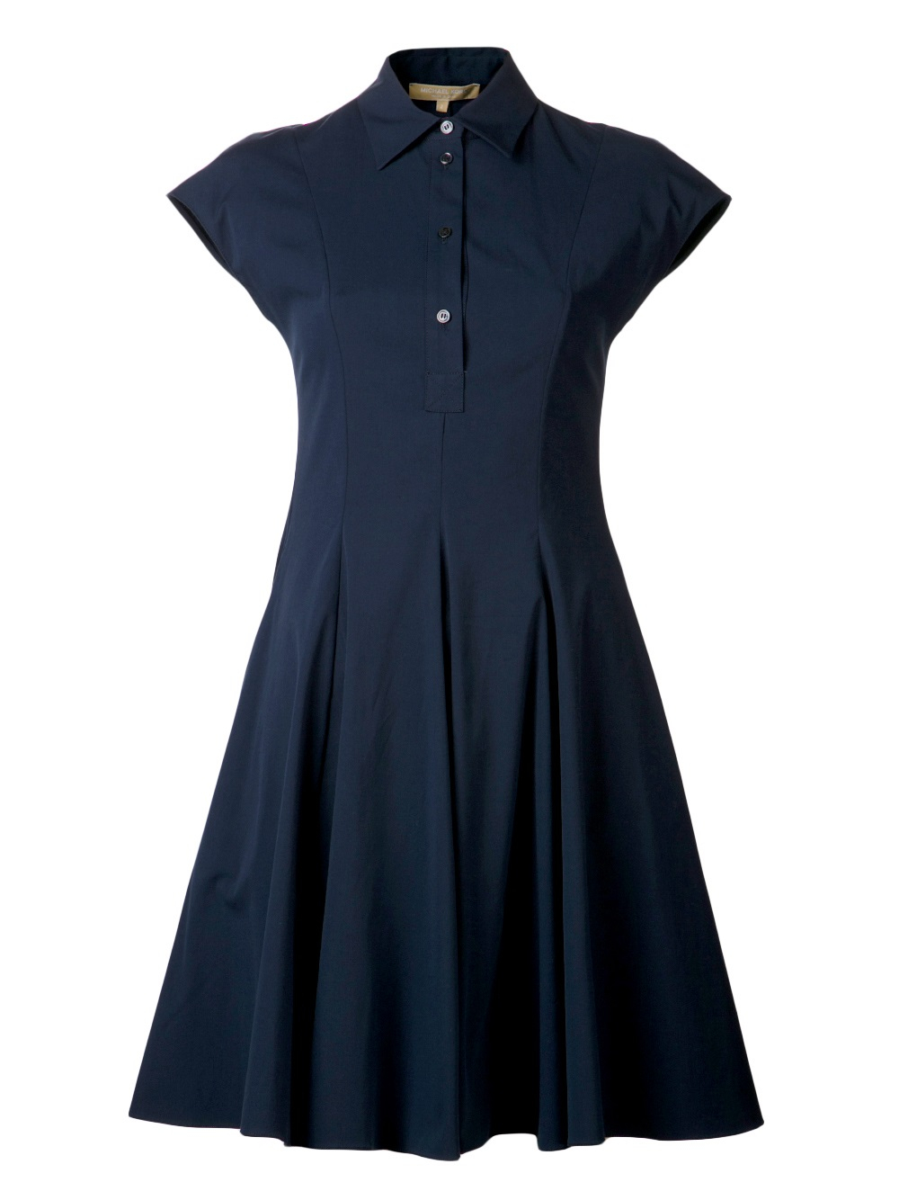 michael kors poplin shirt dress in blue lyst. Black Bedroom Furniture Sets. Home Design Ideas