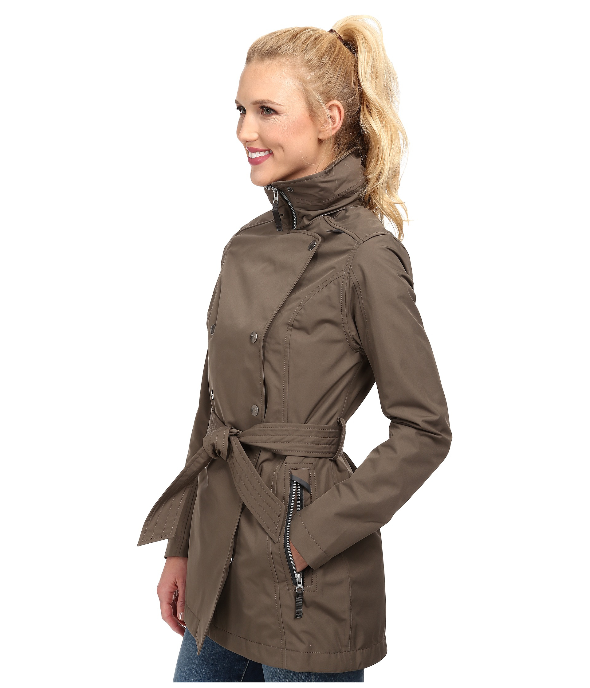 649ceffed3c Lyst - Helly Hansen Welsey Trench in Green