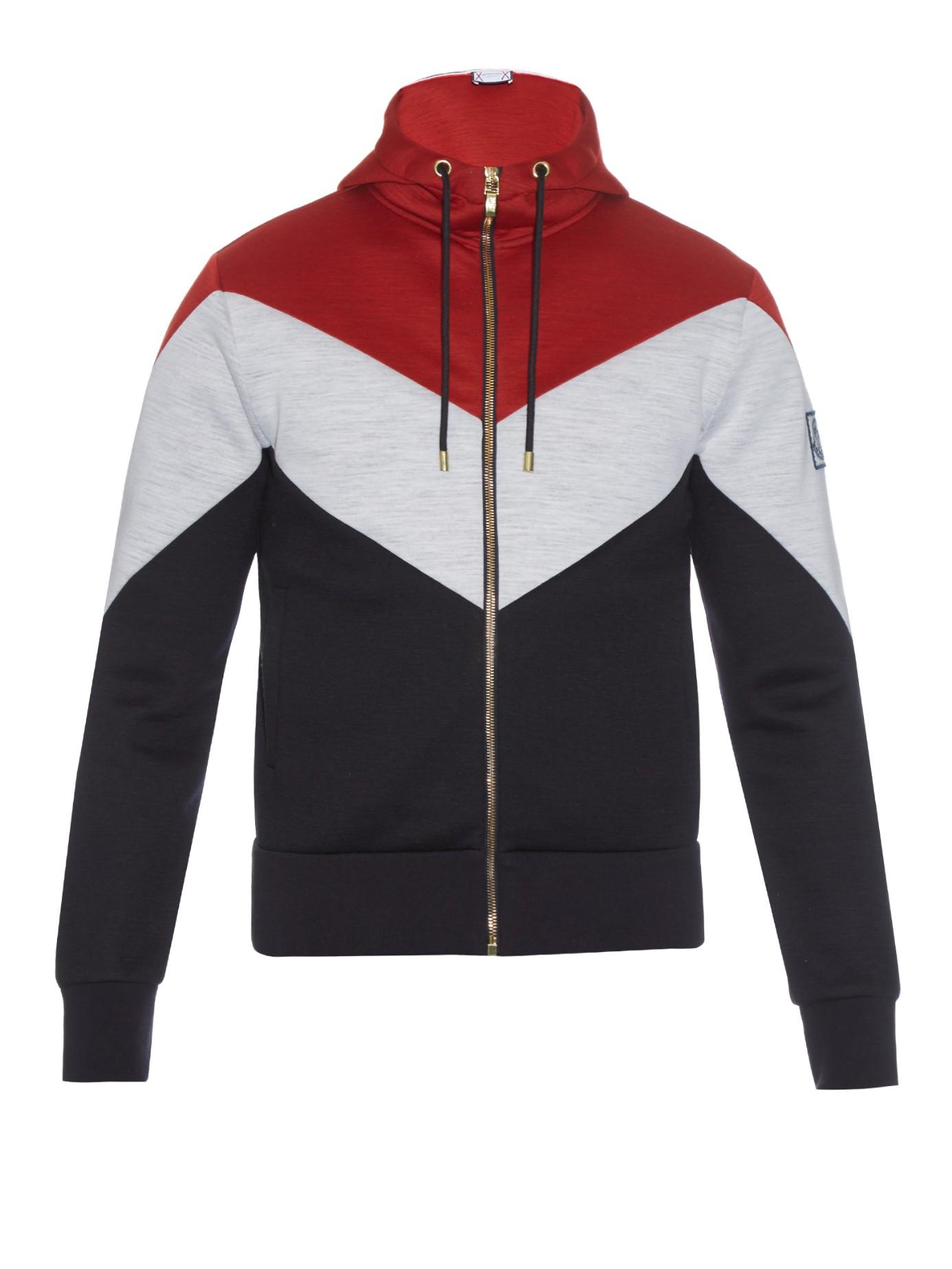 red moncler sweatshirt