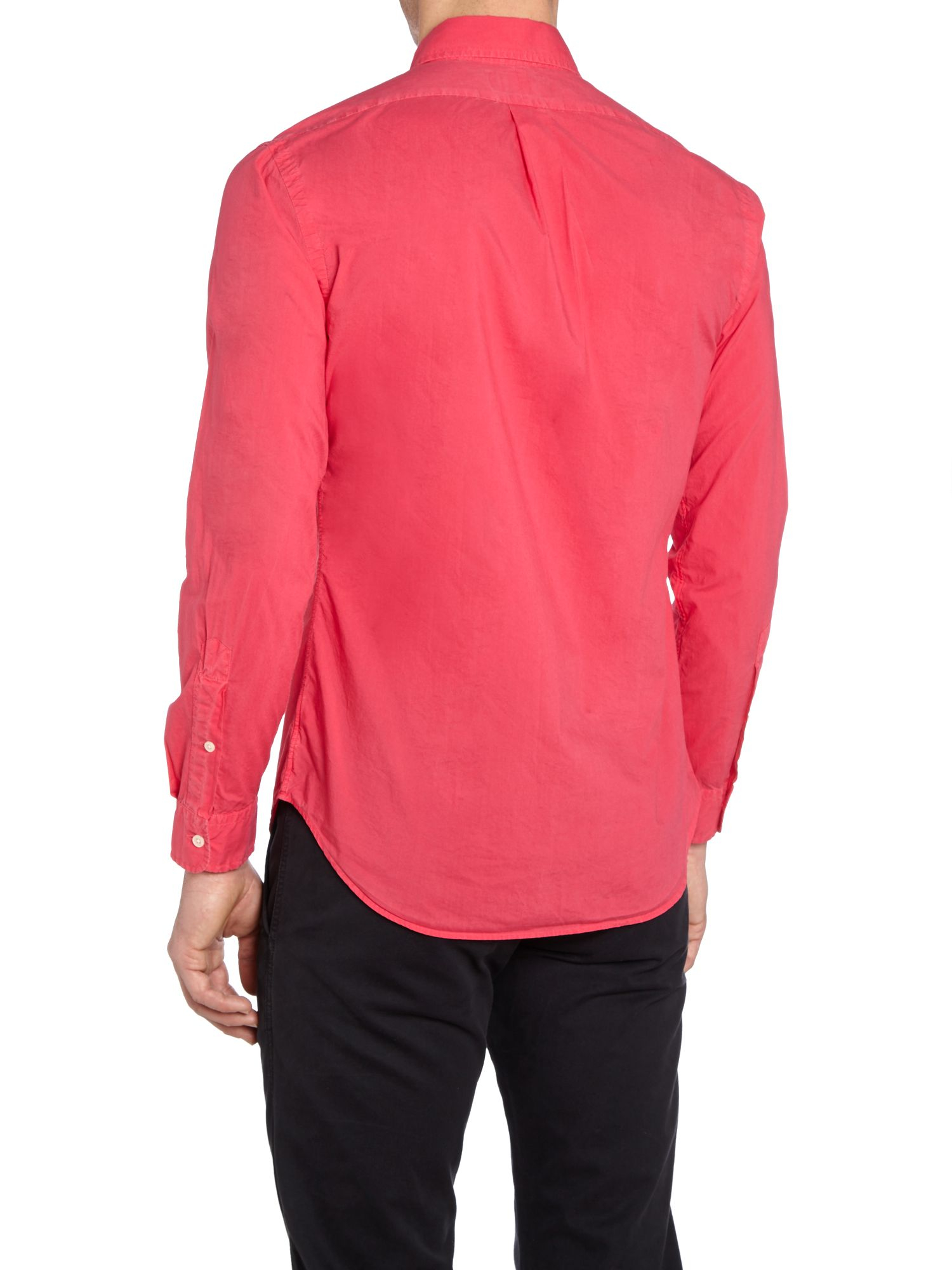 Lyst polo ralph lauren classic slim fit long sleeve for Long sleeve fitted polo shirts