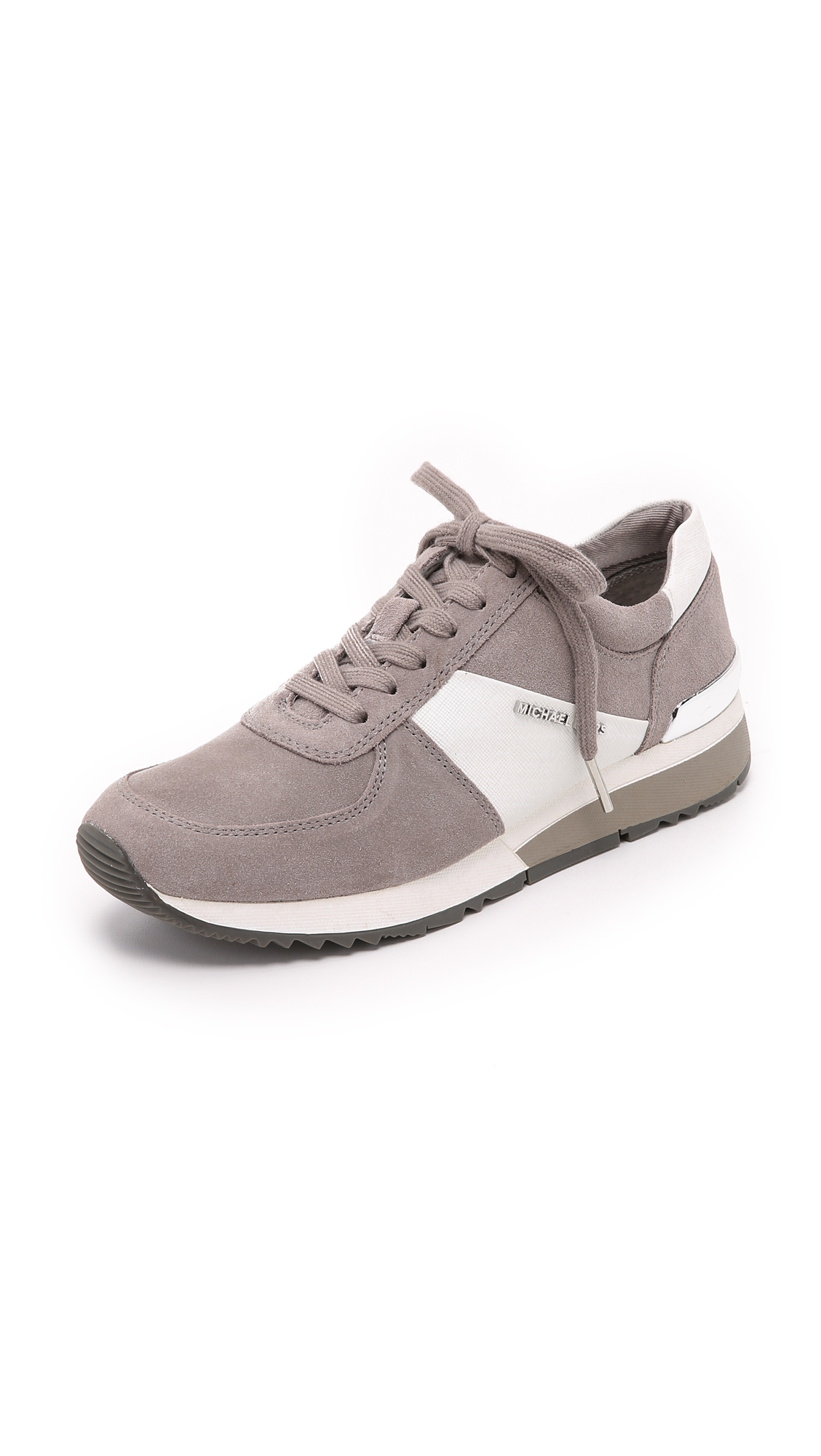 1446f5f04faf6 Lyst - MICHAEL Michael Kors Allie Trainers - Pearl grey in White