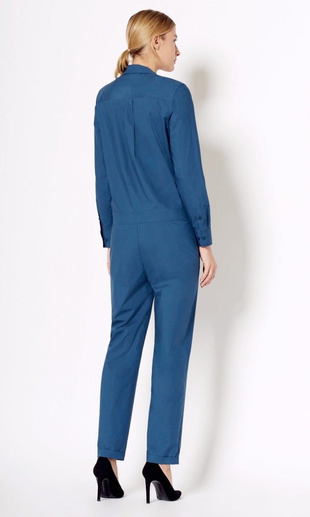 c9f701e71478 Lyst - Equipment Blaise Cotton Jumpsuit in Blue