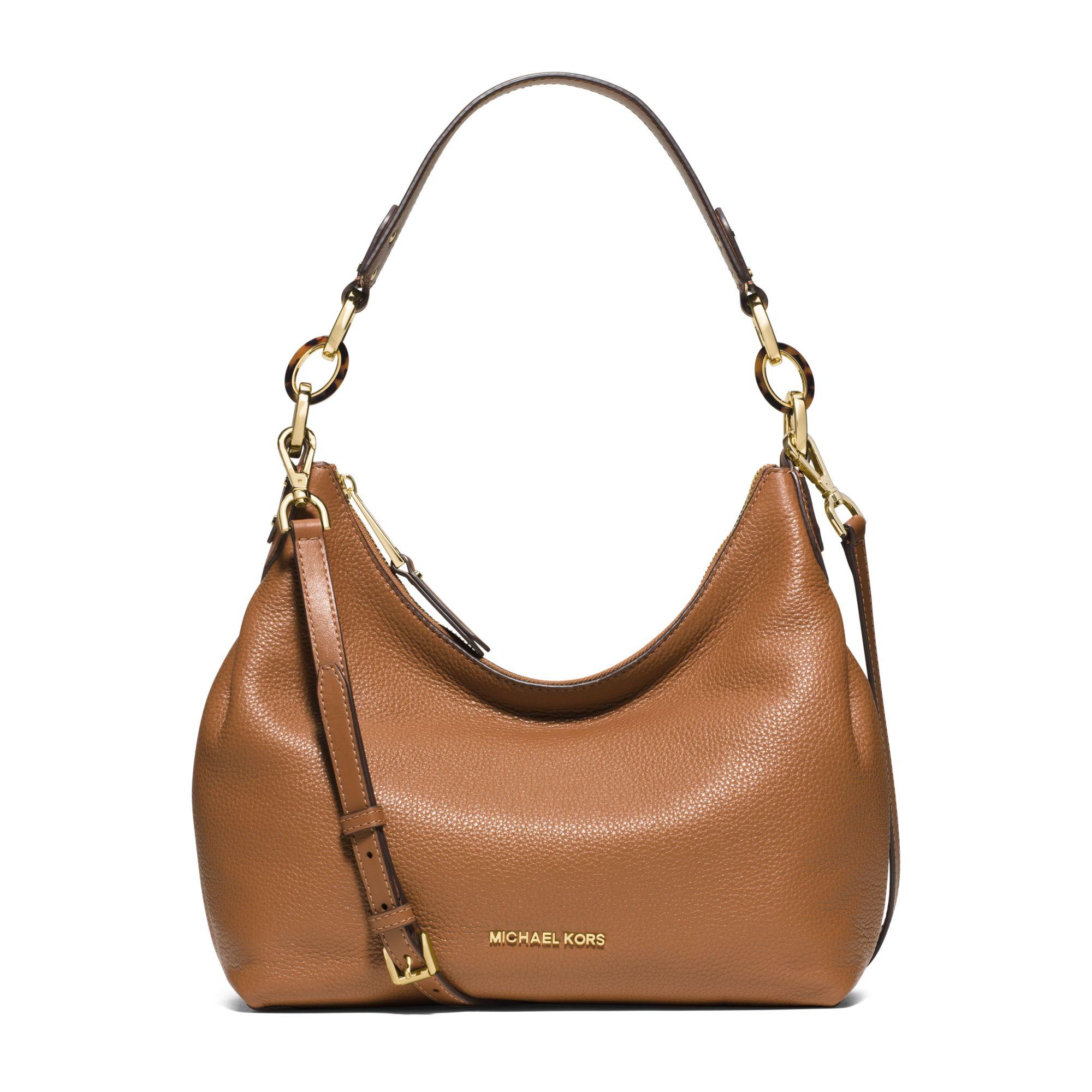 402249256f96 ... canada lyst michael kors isabella medium leather shoulder bag in brown  2b938 a8d89