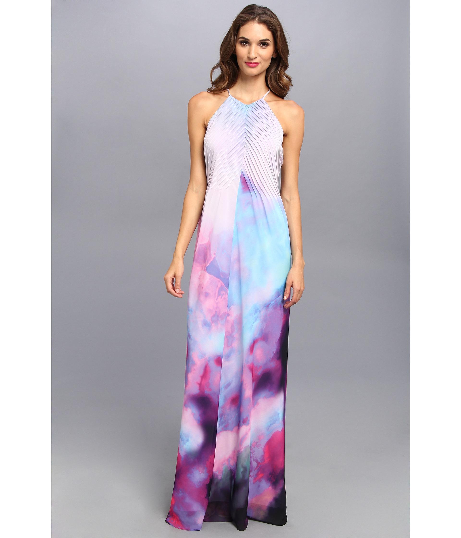 Lyst Ted Baker Alexxis Summer At Dusk Print Maxi Dress