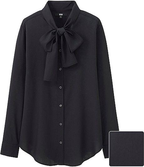 Black Blouse Bow Tie 118