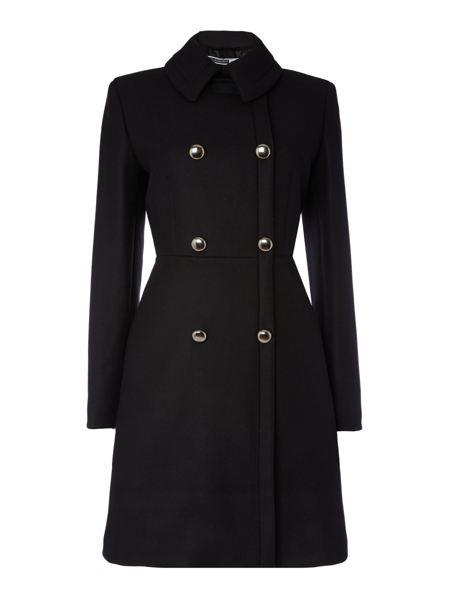 Sportmax code Todi Double Breasted Wool Coat in Black | Lyst