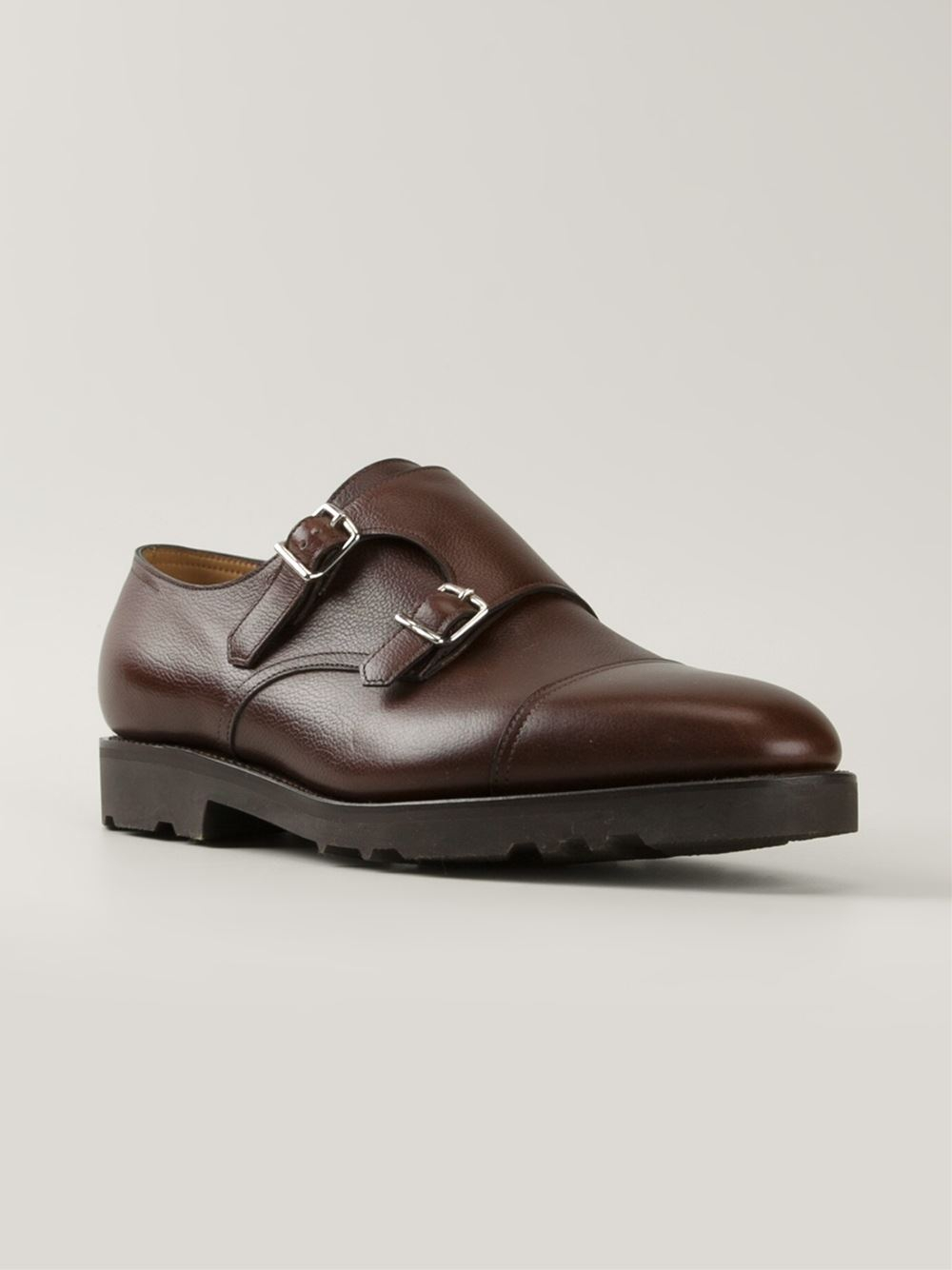 John Lobb Shoes >> John lobb 'william' Monk Shoes in Brown for Men | Lyst