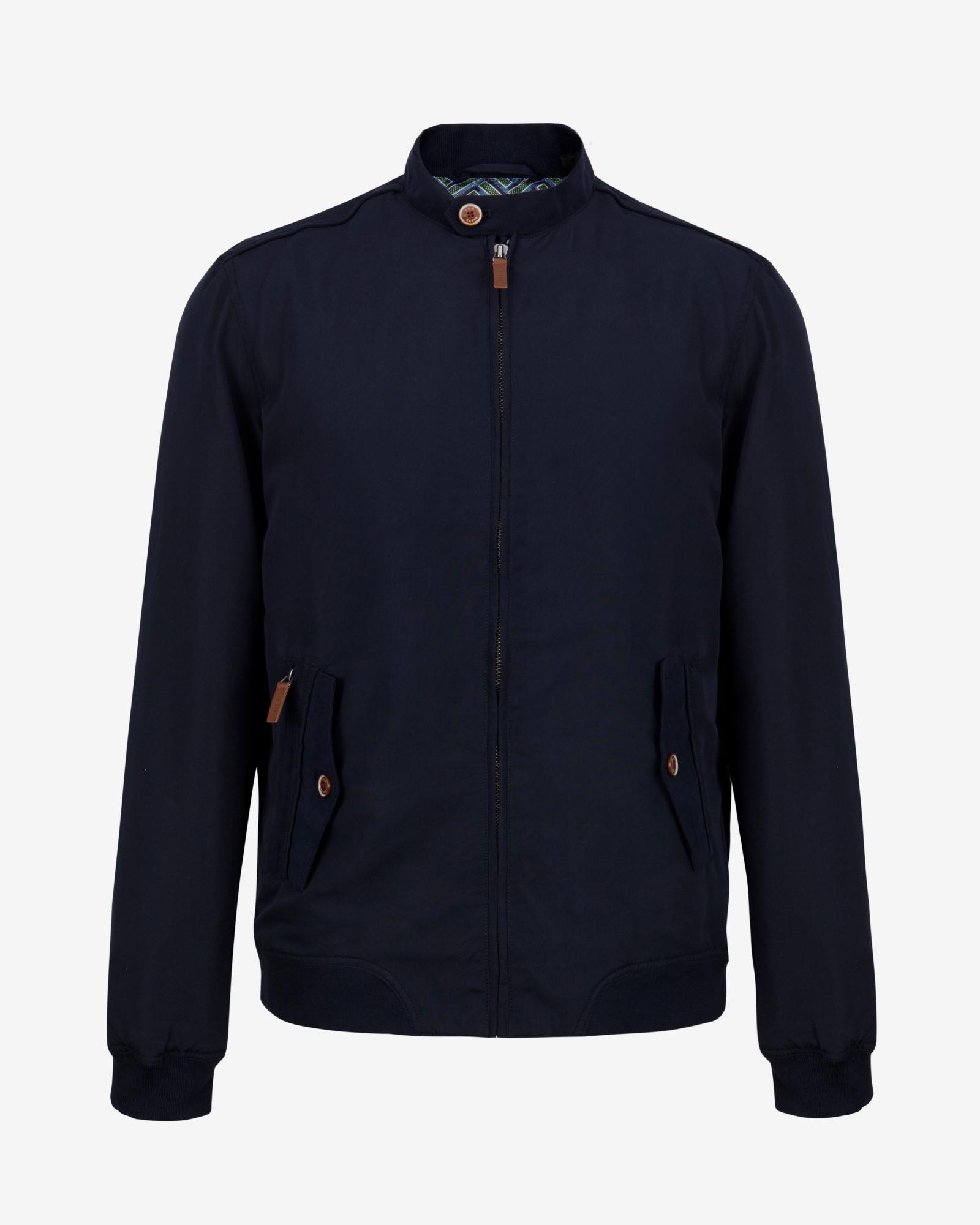 Ted Baker Tall Bomber Jacket In Blue For Men Navy Lyst