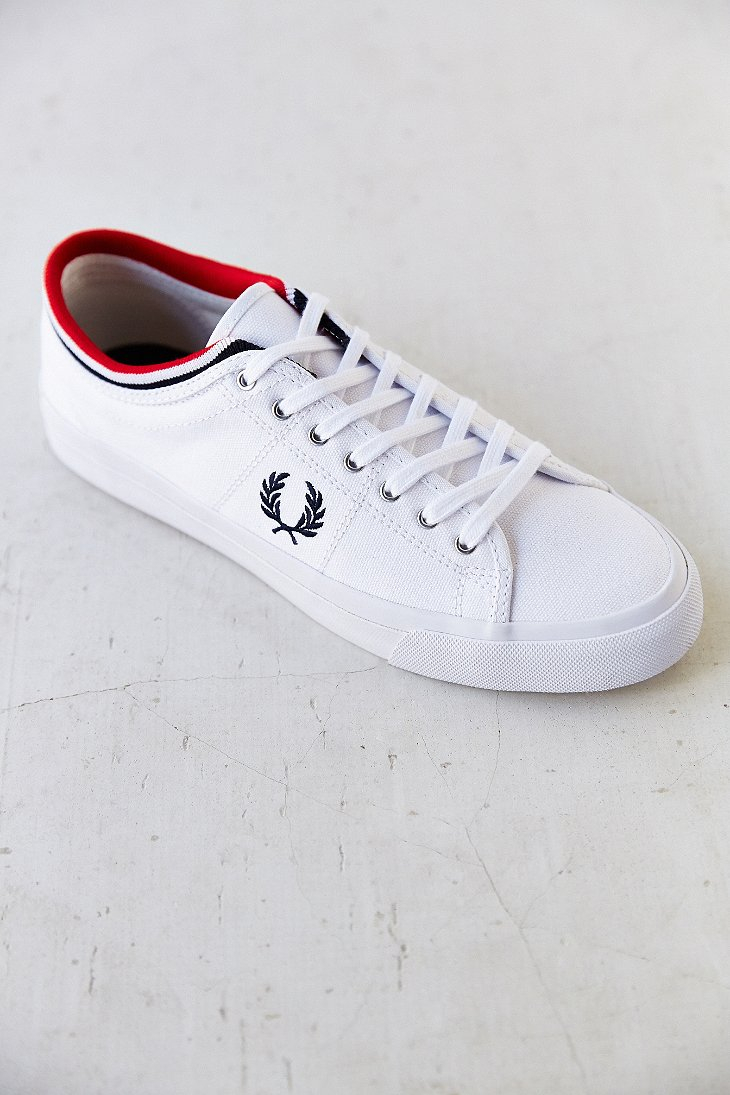 2195e70743 Fred Perry Kendrick Tipped Cuff Canvas Sneaker in White for Men - Lyst