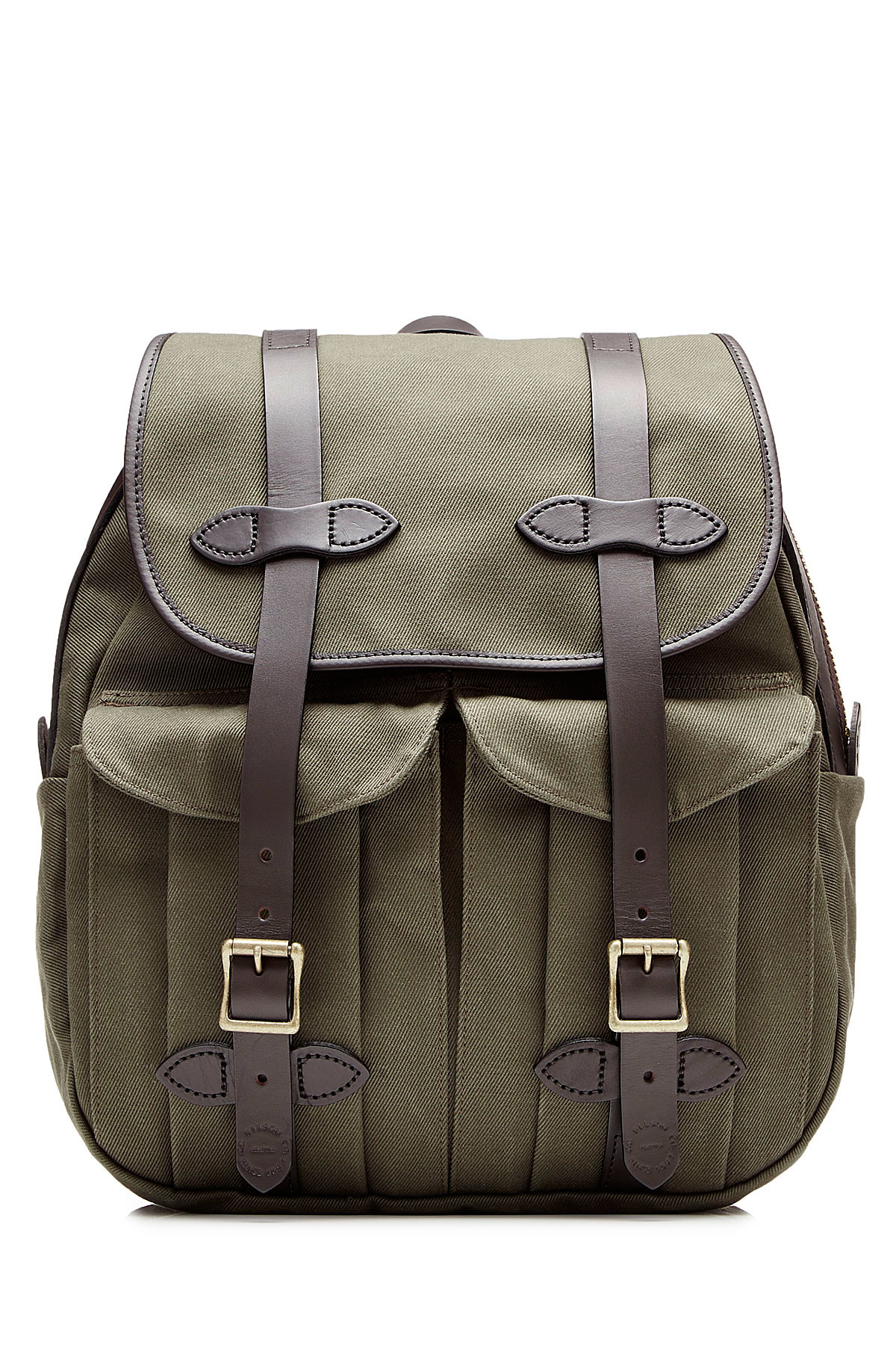 Lyst Filson Twill Backpack With Leather Green In Green