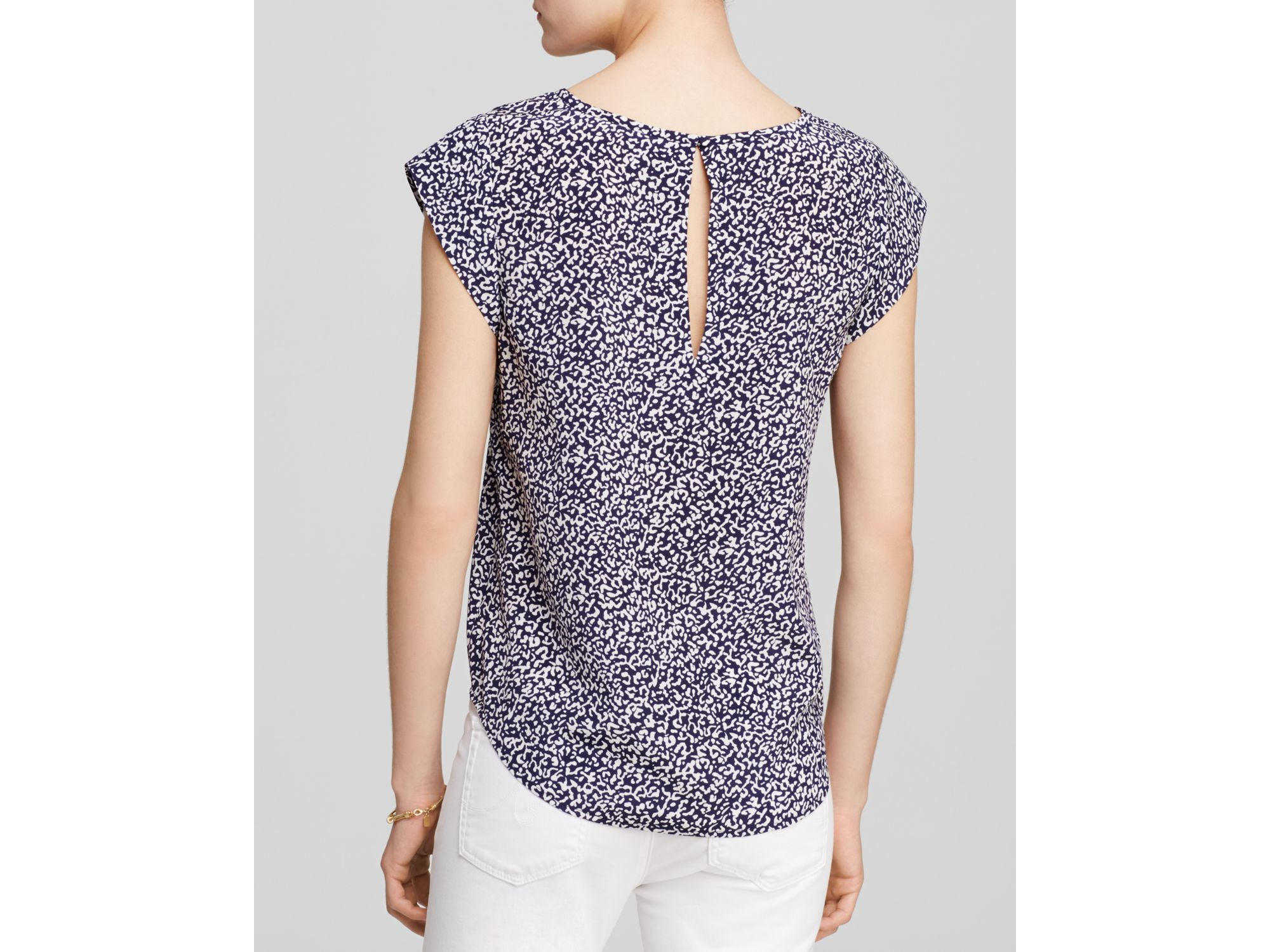 2a6449aed6395 Lyst - Joie Rancher Animal Print Top in Blue