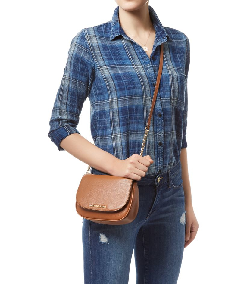 a96275af5a92 MICHAEL Michael Kors Bedford Small Cross Body Bag in Brown - Lyst