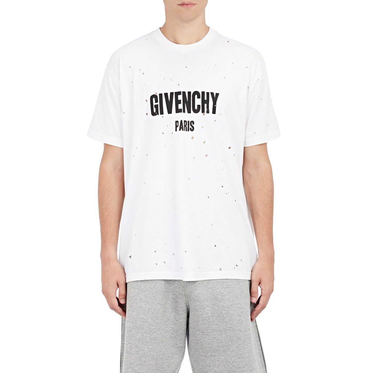 Givenchy Men 39 S Graphic Destroyed T Shirt In White For Men
