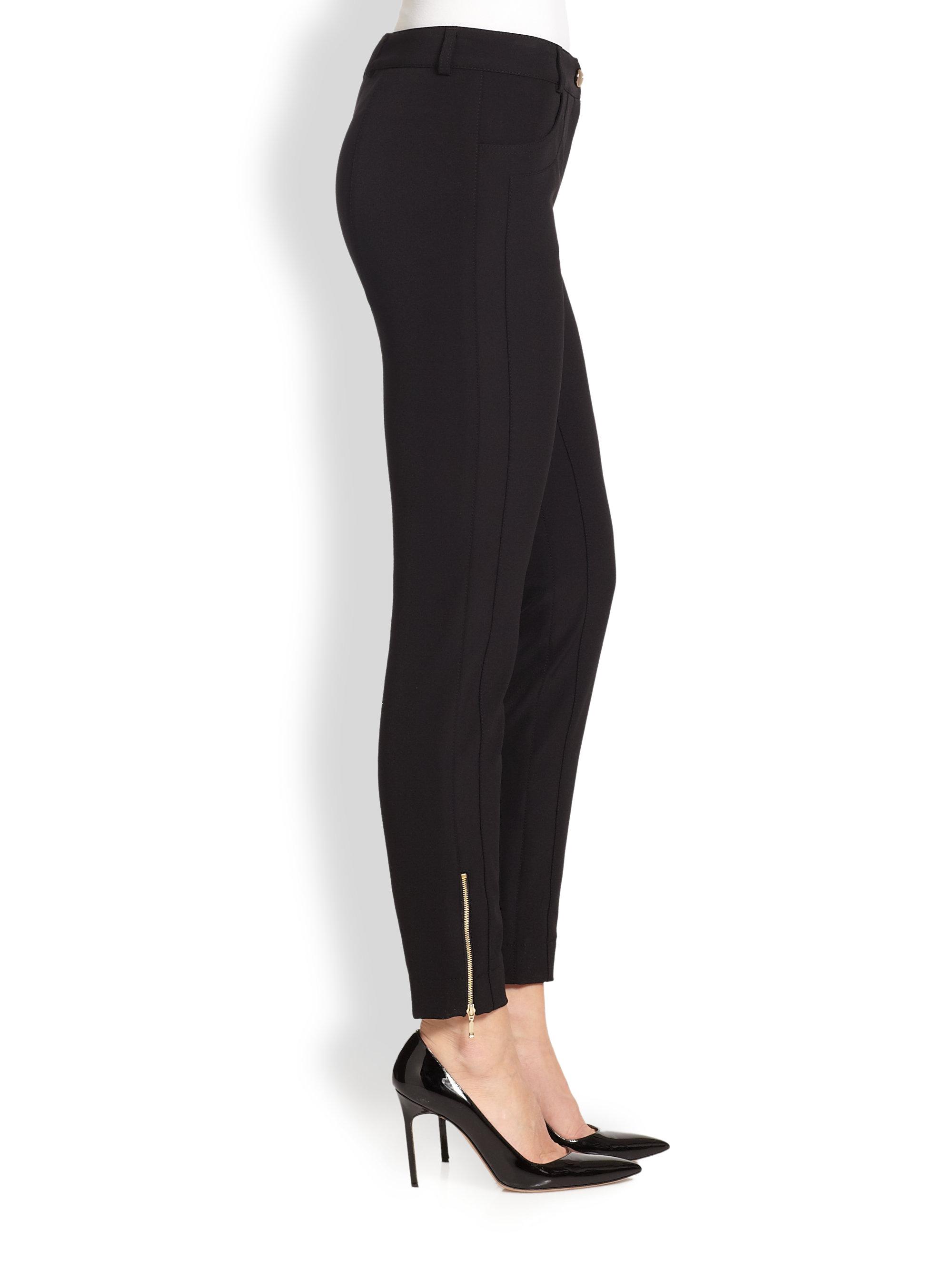 Popular Womens High Waist Faux Leather Zipper Leggings Skinny Black Sexy Slim