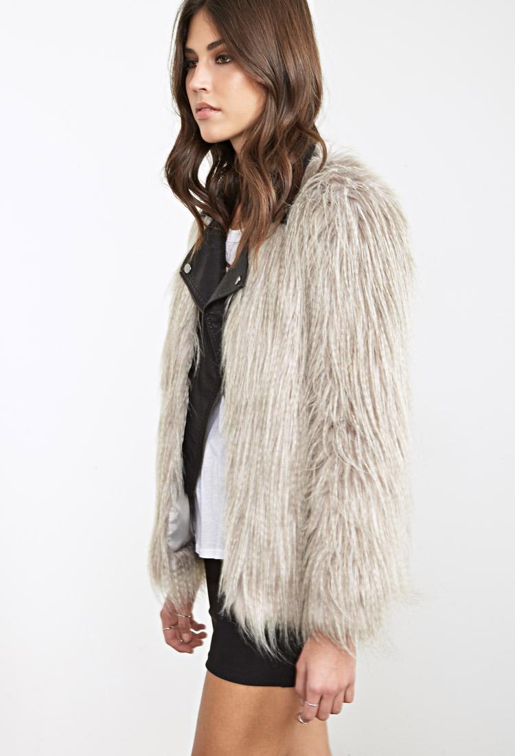 ac2cedca6a5c Cheetah Faux Fur Coat Forever 21 - Tradingbasis