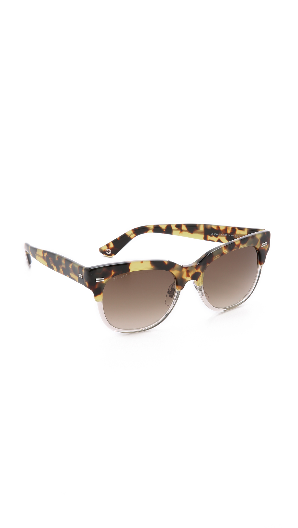5250d913a10c Gucci Spotted Top Sunglasses in Brown - Lyst