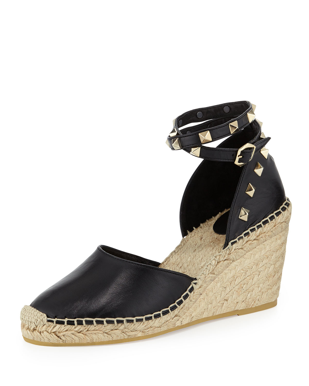 Lyst Ash Winnie Studded Espadrille Wedge In Black