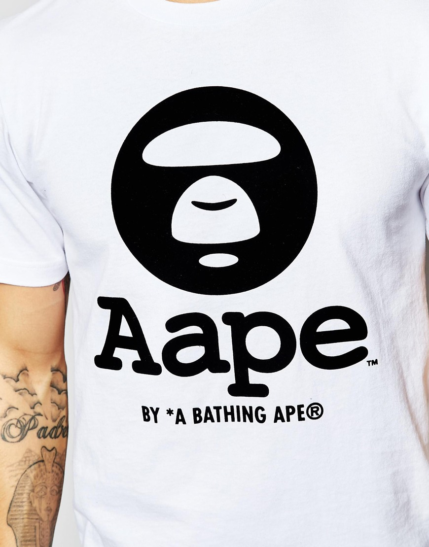 6dc84f2b1 Aape By A Bathing Ape T-shirt With Logo in White for Men - Lyst