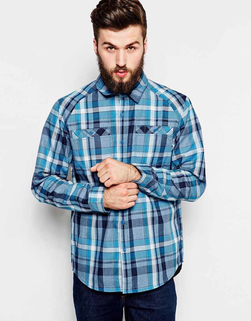 Lyst - The North Face Flannel Shirt In Check in Blue for Men