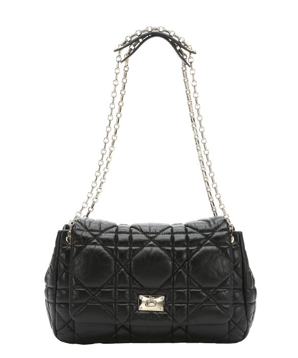 Zenith Quilted Shoulder Bag With Chain Black 93