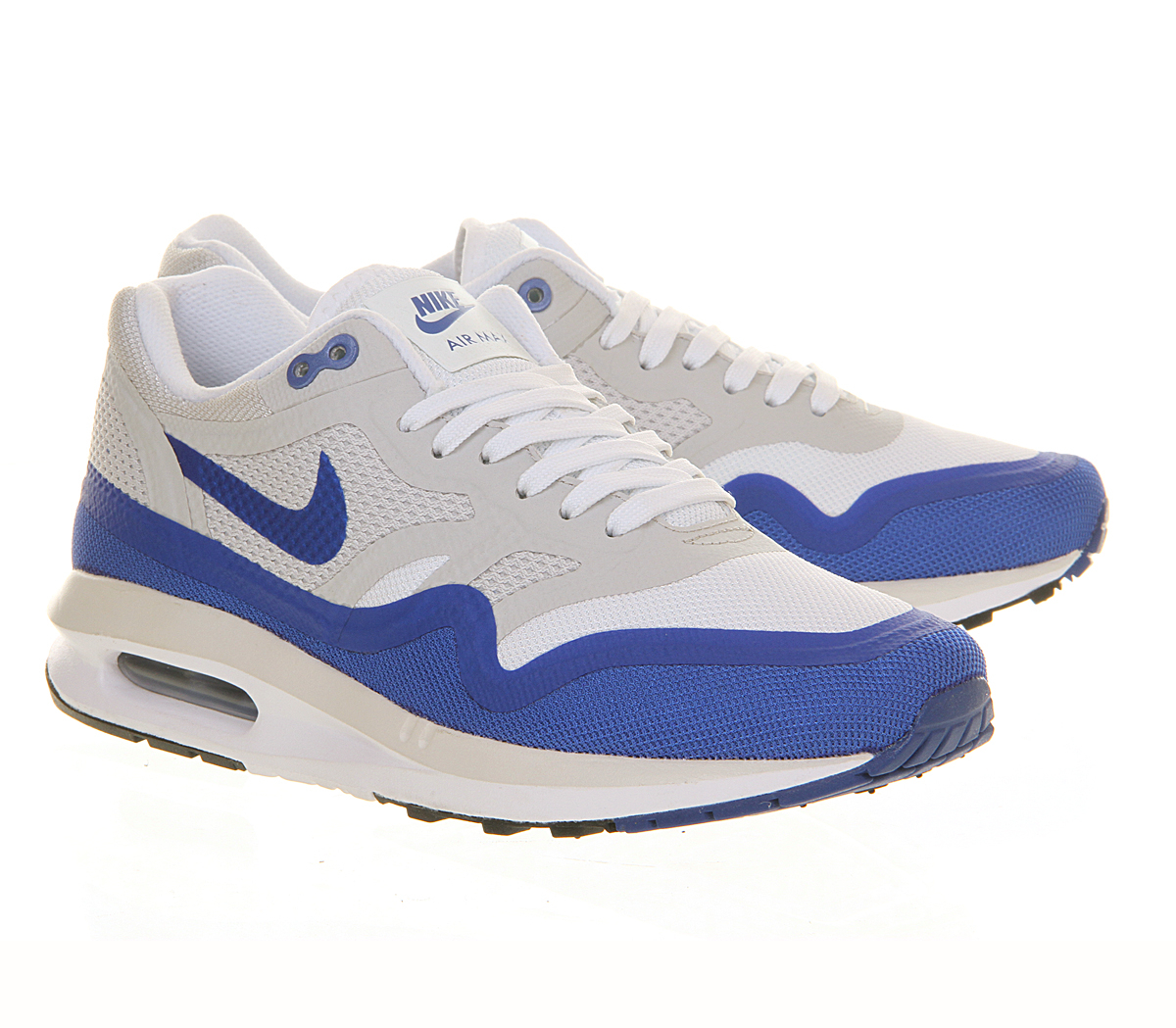 nike air max lunar 1 w in blue white lyst. Black Bedroom Furniture Sets. Home Design Ideas