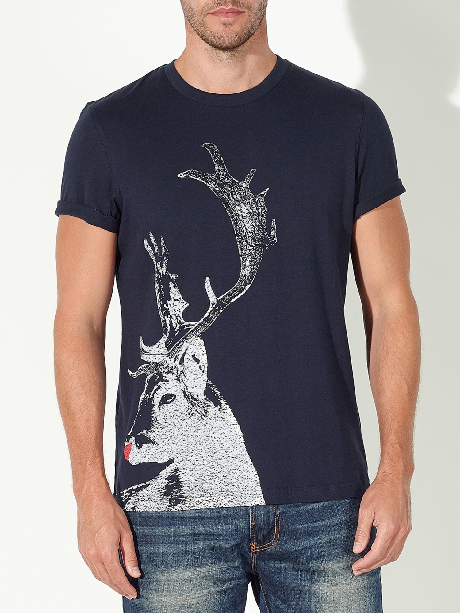 lyst john lewis vintage stag organic cotton t shirt in. Black Bedroom Furniture Sets. Home Design Ideas
