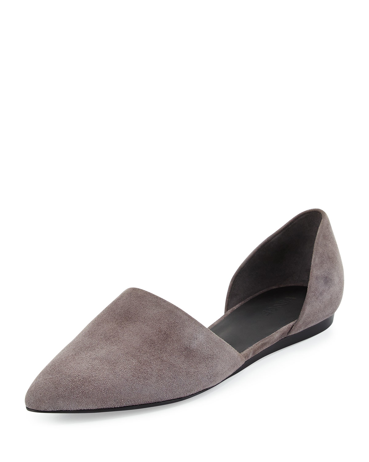 Lyst Vince Nina Two Piece Leather Flats In Brown