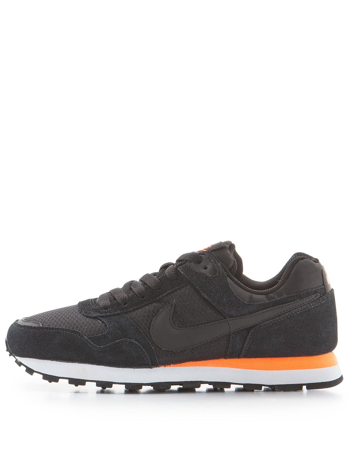 nike md runner trainers in orange for men black orange lyst. Black Bedroom Furniture Sets. Home Design Ideas
