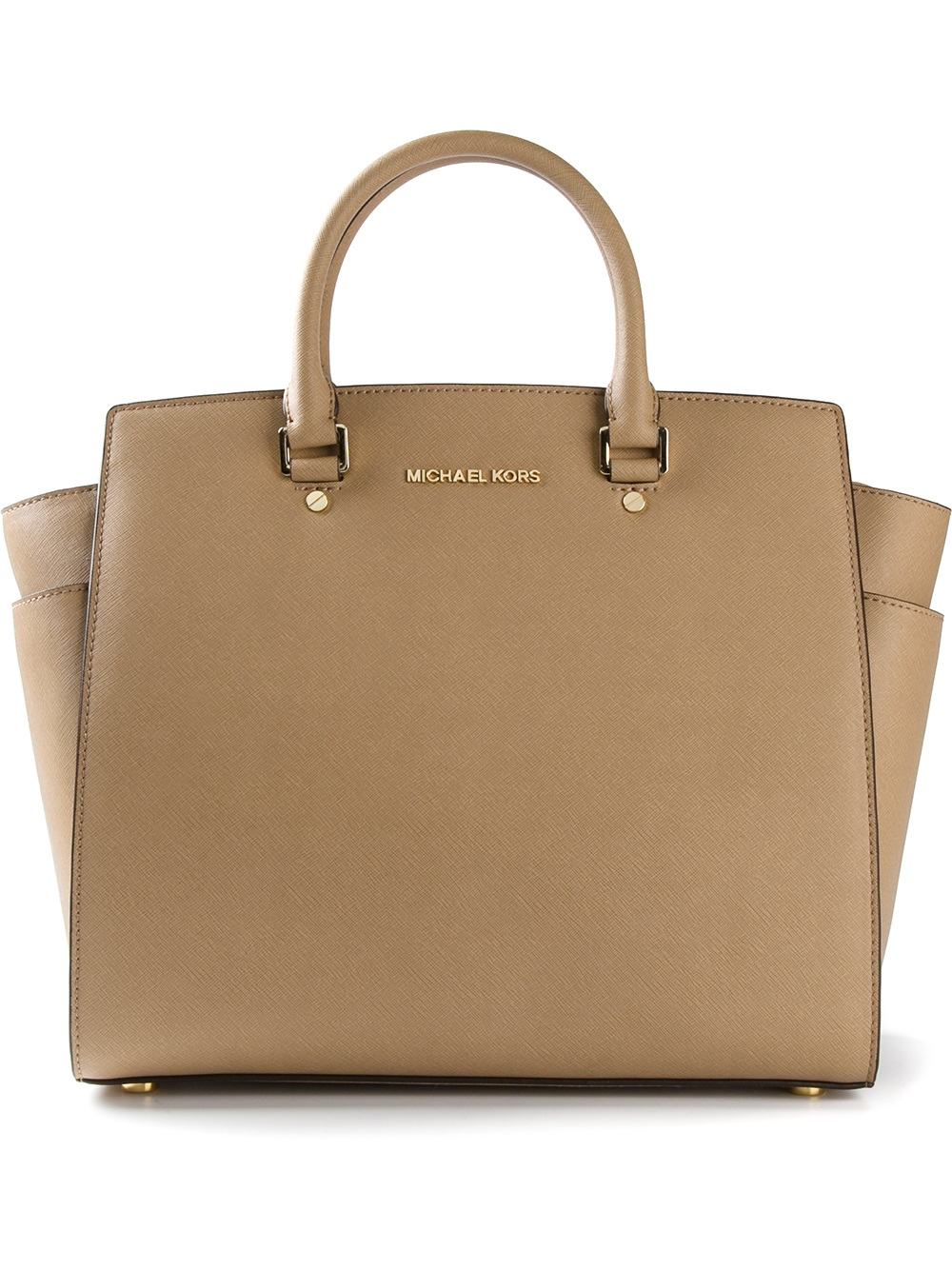 michael michael kors selma tote in natural lyst. Black Bedroom Furniture Sets. Home Design Ideas