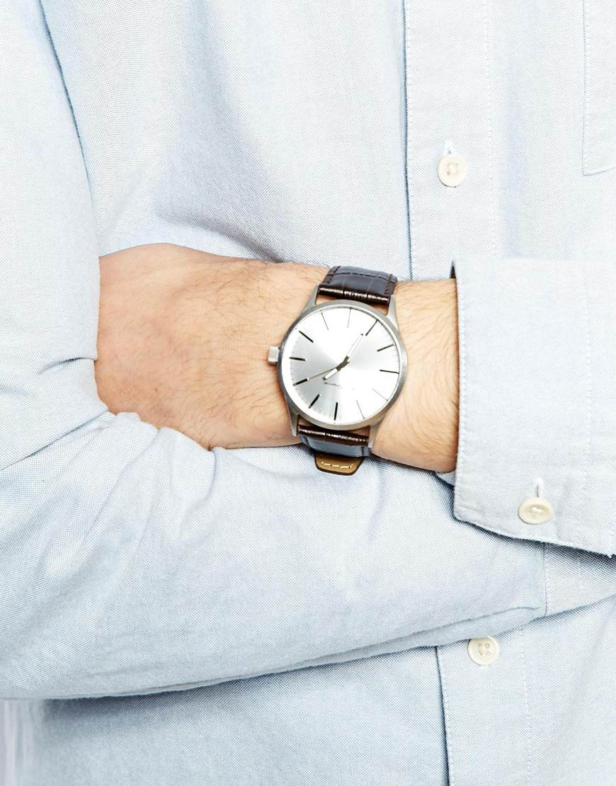 Ben sherman White Dial Leather Strap Watch Bs061 in Brown ...