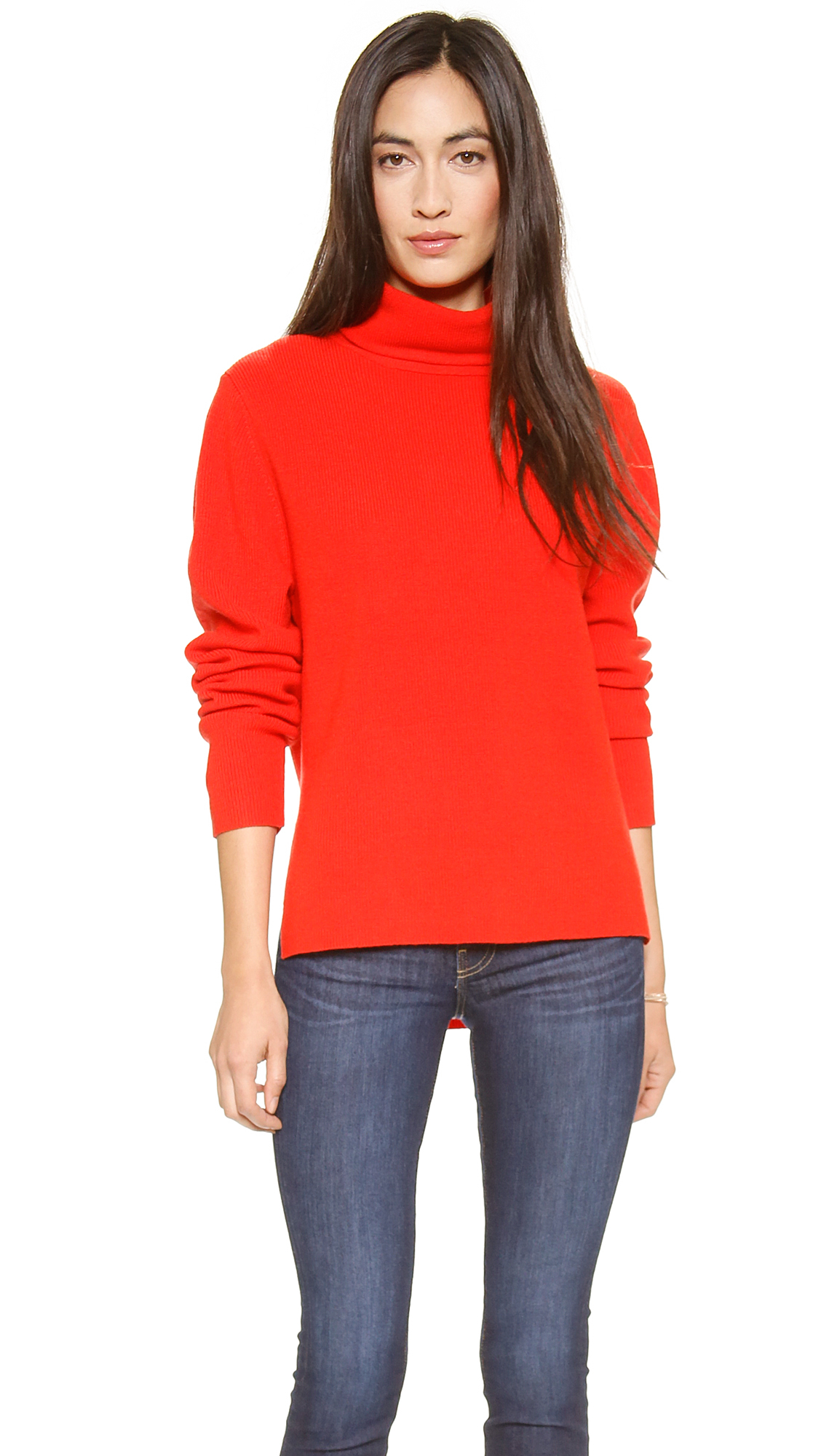 Lyst Apiece Apart Uta Side Seam Turtleneck Sweater
