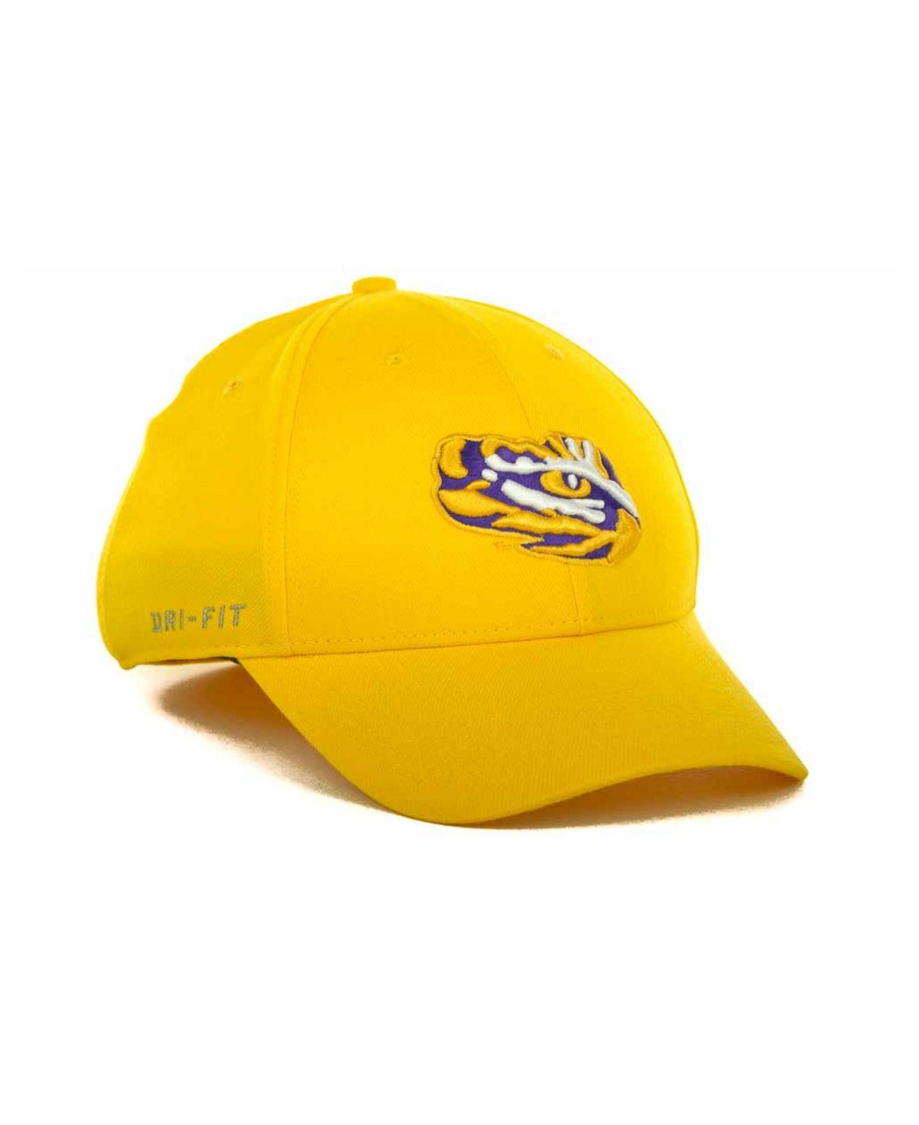 5c083dd4aaa8c Lyst - Nike Lsu Tigers Drifit Swoosh Flex Cap in Metallic for Men