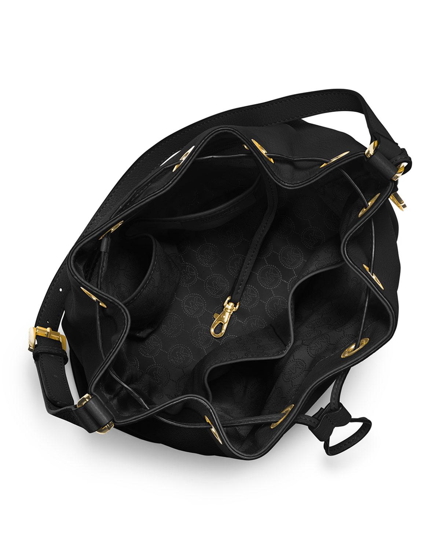 0443628ac9 Lyst - Michael Kors Michael Large Jules Drawstring Shoulder Bag in Black