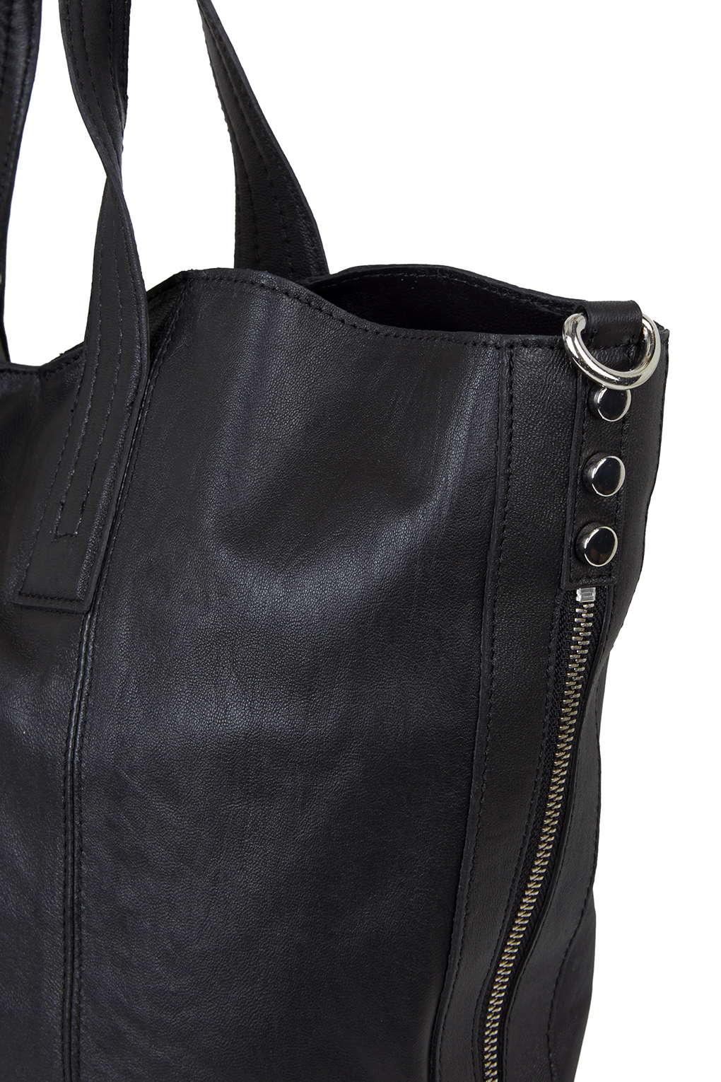 46d476513f95c Lyst - TOPSHOP Casual Leather Tote Bag in Black