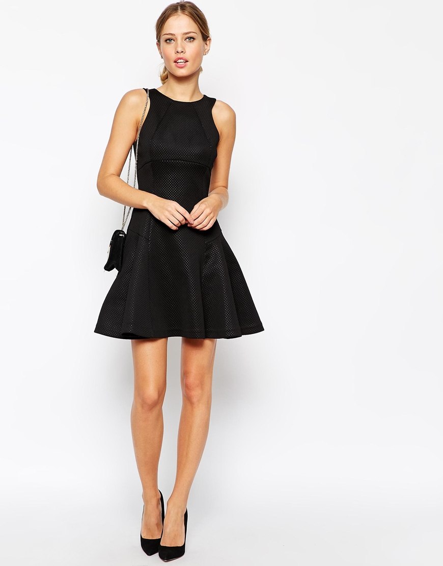 Lyst - Ted Baker Skater Dress in Black 247e8bc21