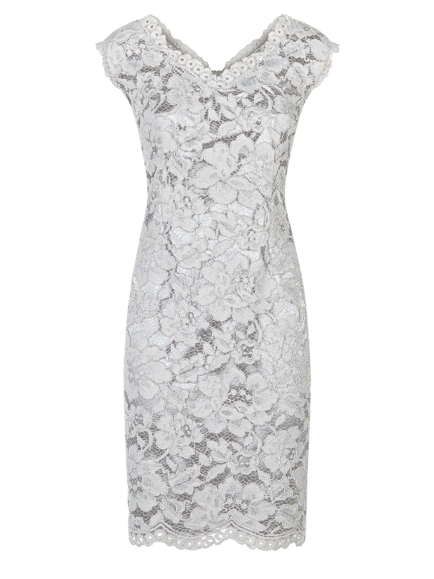 Light grey lace dress