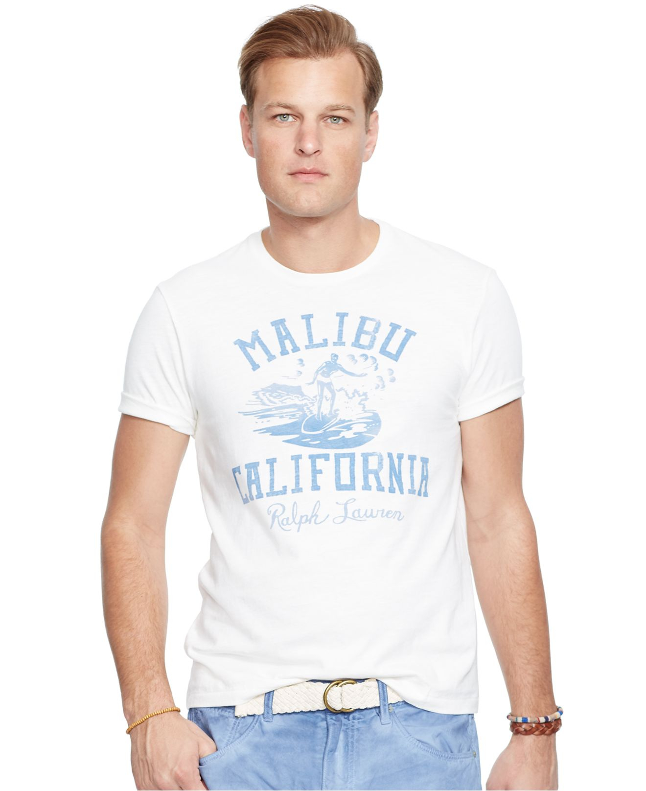 Polo Ralph Lauren Big And Tall Surf Print Graphic T Shirt