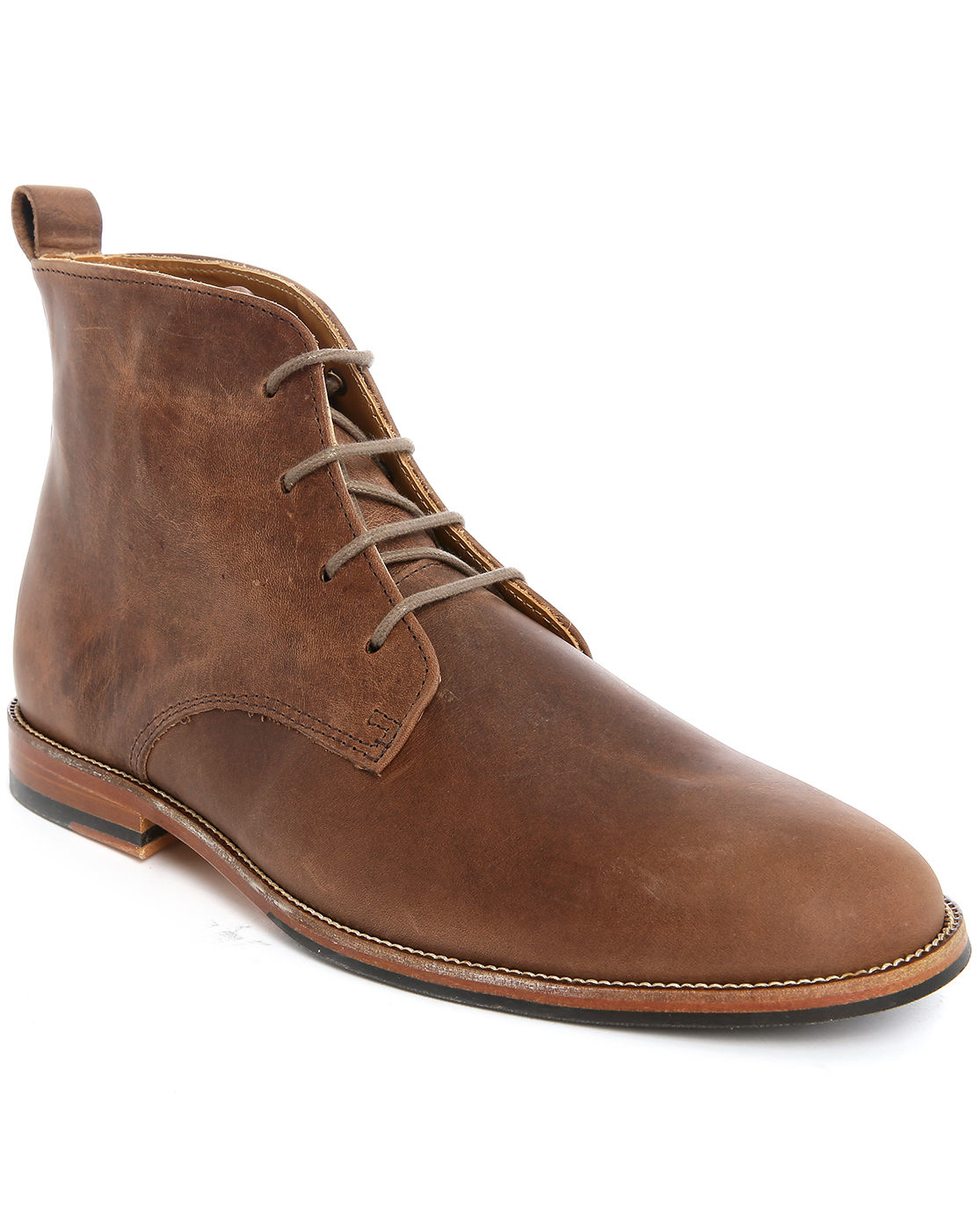 bobbies l explorateur leather boots in brown for