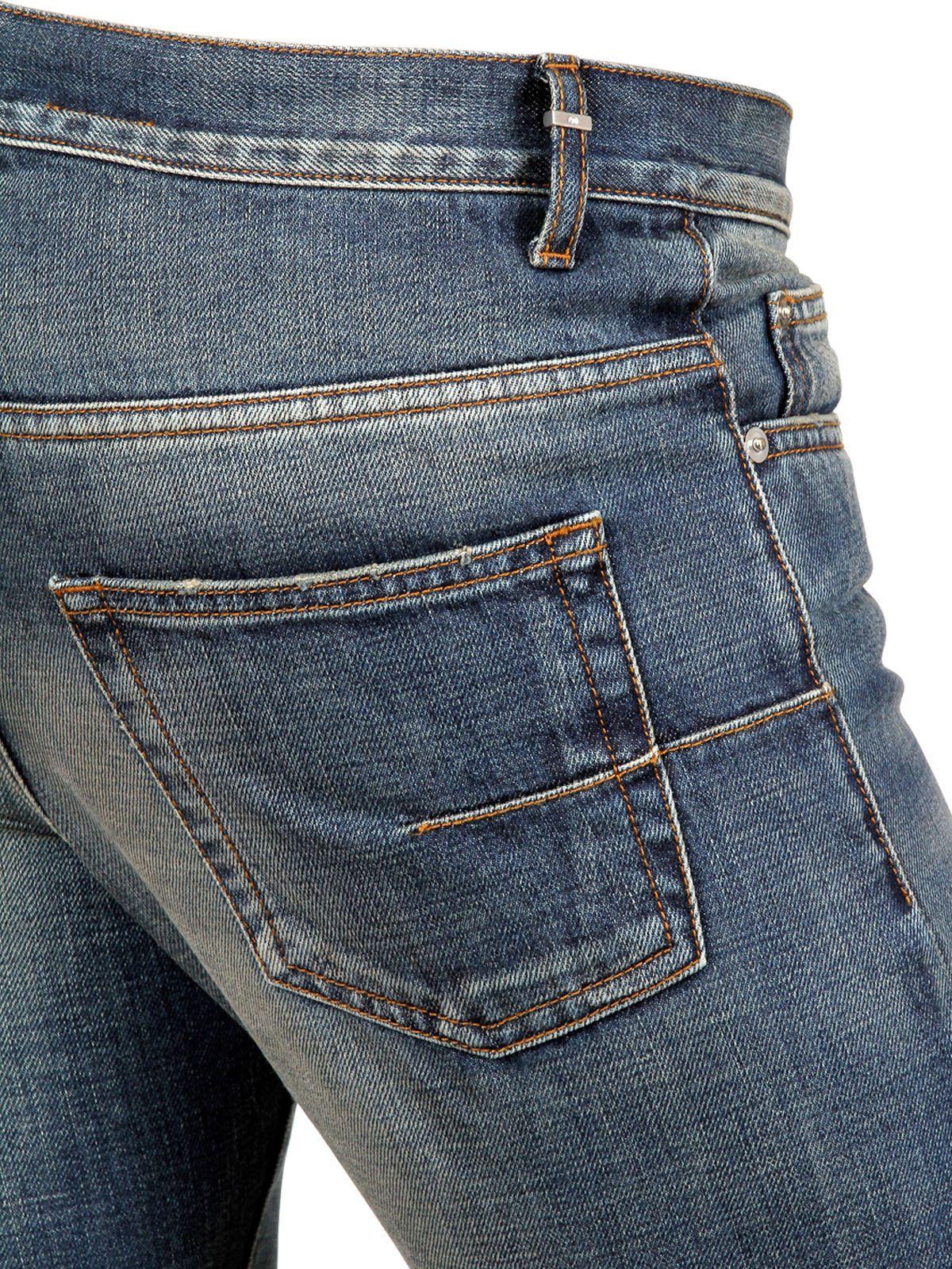 dior homme 19cm heavy seas denim jeans in blue for men lyst. Black Bedroom Furniture Sets. Home Design Ideas
