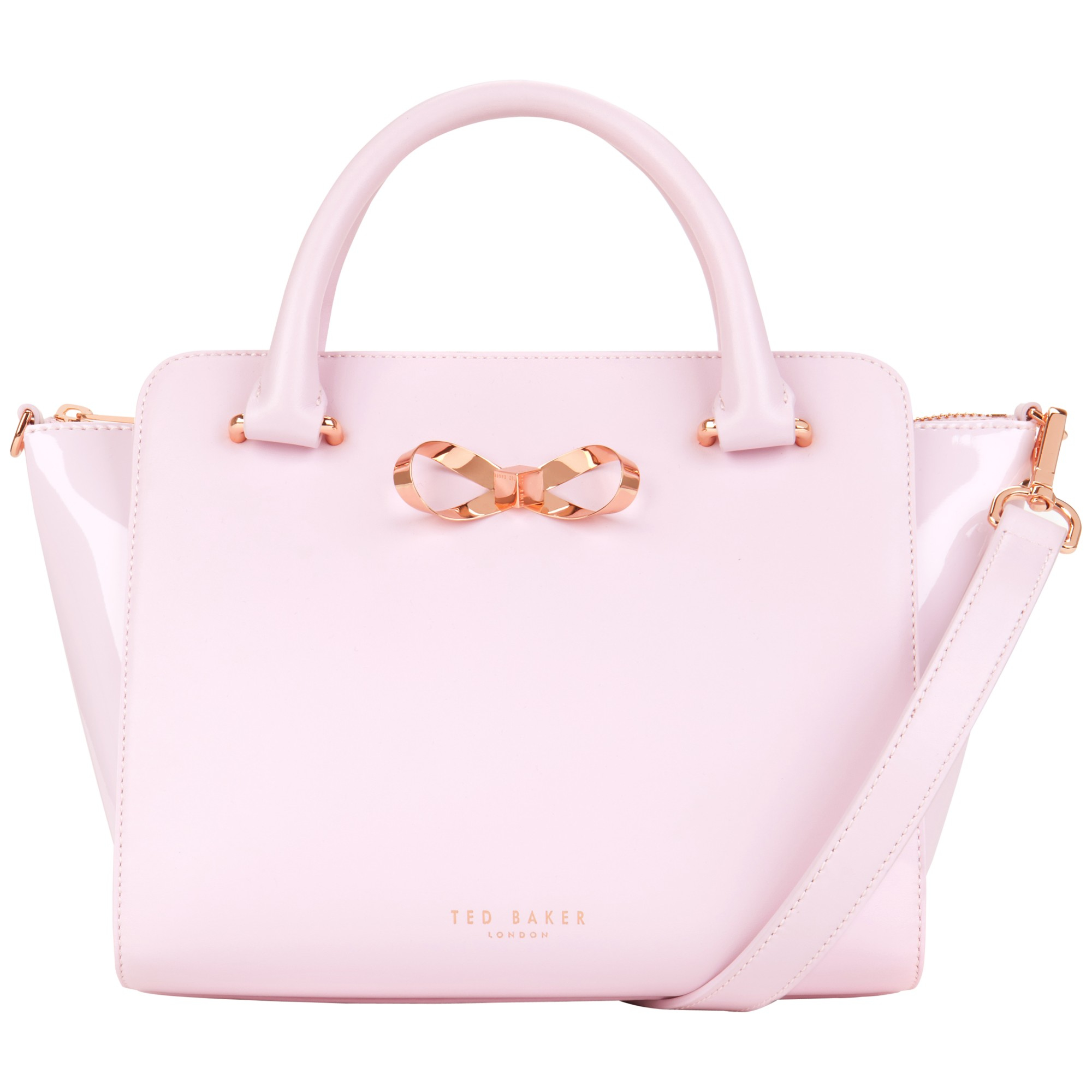 59b525acdc84 Ted Baker Paiton Bow Leather Tote Bag in Pink - Lyst
