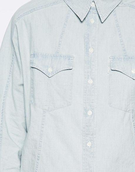 Levis White Denim Shirt Levis Batwing Denim Shirt