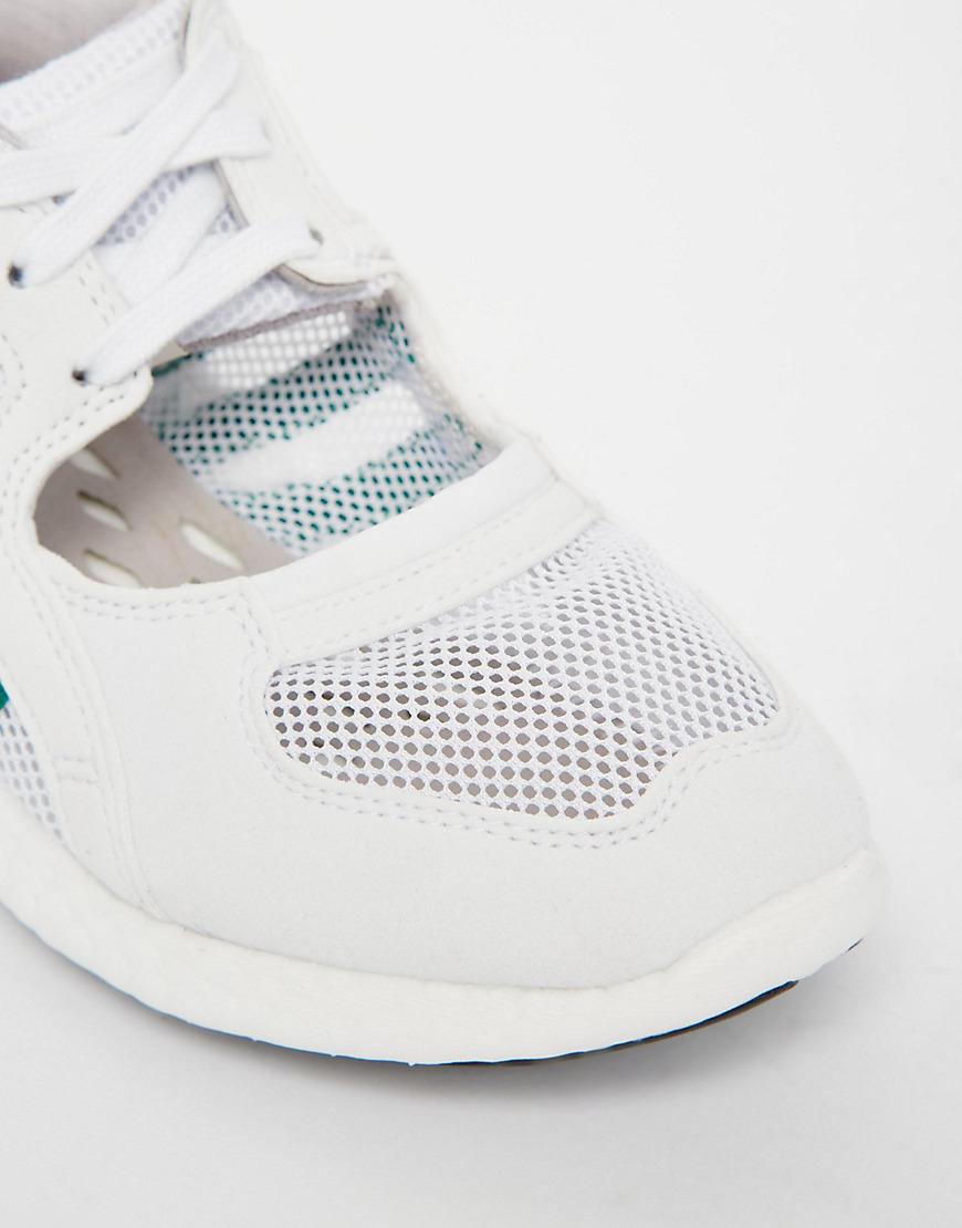 buy popular e174a 8bcb9 Lyst - adidas Originals Originals White Equipment Racing 91
