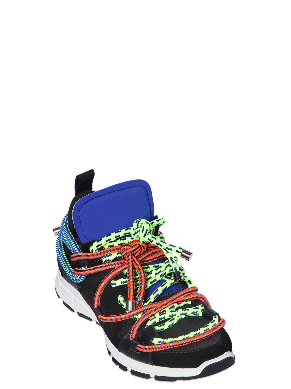 Dsquared2 Black Neoprene 'Icon' Sneakers DoRoQRbh